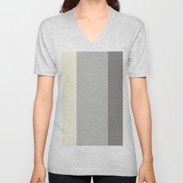 Benjamin Moore 2019 COY Metropolitan, Lemon Chiffon, and Cinder Dark Gray Bold Vertical Stripes Unisex V-Neck