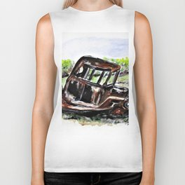 Wrecked And Rusting Biker Tank