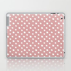 Mauve polka dots pattern - classy college student collection Laptop & iPad Skin