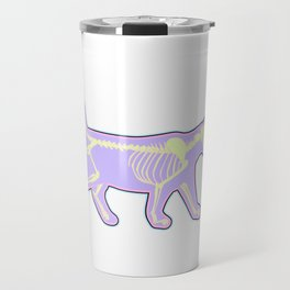 Colorful Tee For the Gothic You With Illustration Of An X-ray T-shirt Design Bones Skull Inside Look Travel Mug