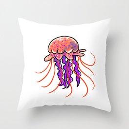 little jellyfish Throw Pillow