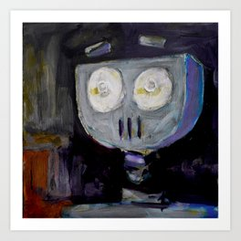 Robot Surprise Art Print
