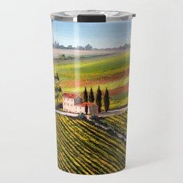 Vineyards In Tuscany Italy Travel Mug