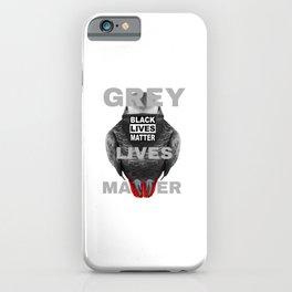 Grey Lives Matter Parrot iPhone Case