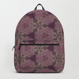 Mauve Rose Grey Hues Delicate Design Pattern Backpack