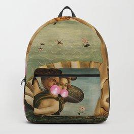 """Botticelli's Bubble Gum Contest The Birth of Venus """"renaissance"""" pop art painting Backpack"""