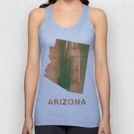 Arizona map outline Peru green streaked wash drawing Unisex Tank Top