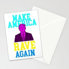 Government Politics USA Gift Make America Rave Again Donald Trump Stationery Cards