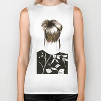 emma watson Biker Tanks featuring Emma  by Yaz Raja Designs
