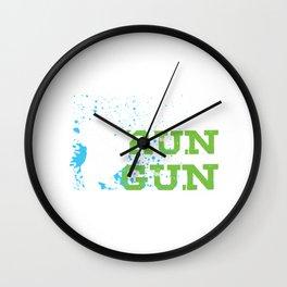 Eat Sleep Run With A Gun Paintball Player Gift Wall Clock