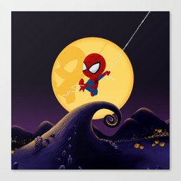 spidey night Canvas Print