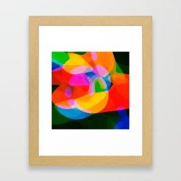 Floating Blobs Framed Art Print