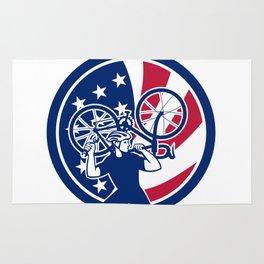 American Bike Mechanic USA Flag Mascot Rug