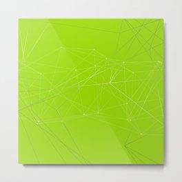 LIGHT LINES ENSEMBLE VII GREEN Metal Print