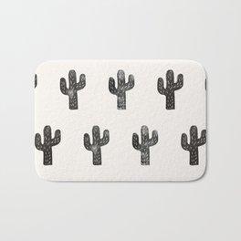 Stamped Cactus Bath Mat