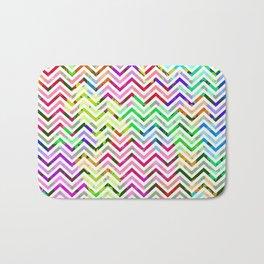 Rainbow Abstract Zig Zag Bath Mat