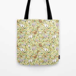 Cute Llama Pattern Tote Bag