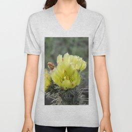 California Cactus Blooms Unisex V-Neck