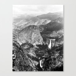Vernal Falls and Nevada Falls in Yosemite National Park, California, 1901 Canvas Print