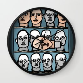 Mannequin Heads Wall Clock