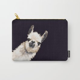 Sneaky Llama in Black Carry-All Pouch