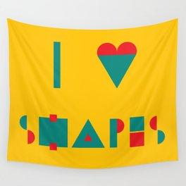 I heart Shapes Wall Tapestry