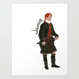 Jamie Fraser (Outlander) Art Print
