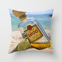 tequila Throw Pillows featuring Tequila! by brocoli art print