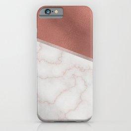 Lexington copper marble iPhone Case