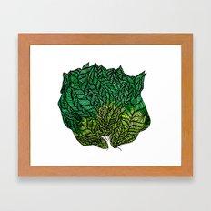 Leaf Head II Framed Art Print