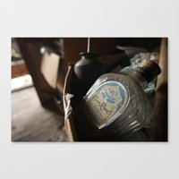 whisky Canvas Prints featuring Whisky Bottle by Rick Allen