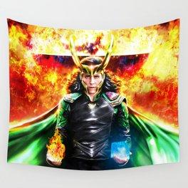Loki - Ragnarok IV Eternal Flame Wall Tapestry