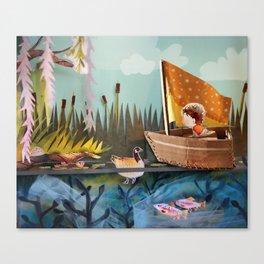 Pond Adventure Canvas Print