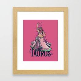 Taurus Belly Dancer Framed Art Print