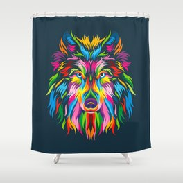 Full Color Wolf Shower Curtain