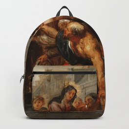 Classic painting of the saints Backpack