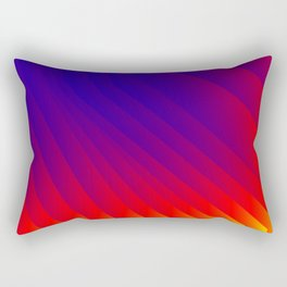 Color Fan Rectangular Pillow
