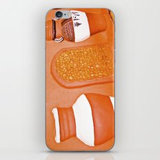 Human and cold rock. iPhone & iPod Skin