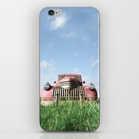 truck iPhone & iPod Skins featuring Red Truck by Cynthia Decker