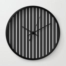 Pinstriped Wall Clock