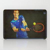 murray iPad Cases featuring Murray Tennis by BixAri