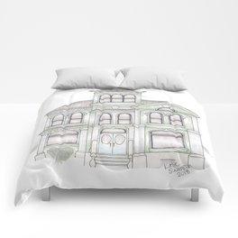 Green Italianate Victorian Comforters