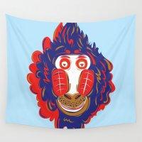 gorilla Wall Tapestries featuring Gorilla by echo3005