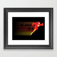 Be Back in a Flash Framed Art Print