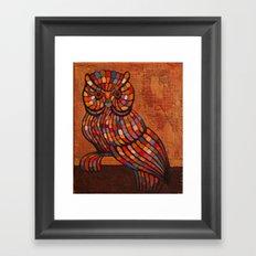 Mosaic owl. Framed Art Print