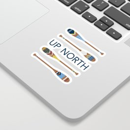 Up North Oars Sticker