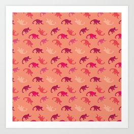 Capuchin monkey pattern Art Print