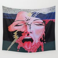 notebook Wall Tapestries featuring She's a Bit Touched by Ana Lillith Bar