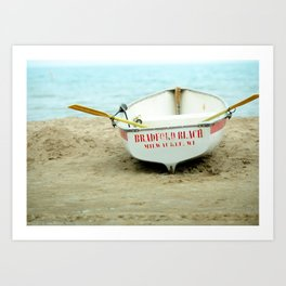 Beach boat Art Print