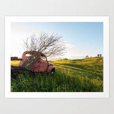 Farming Past Art Print
